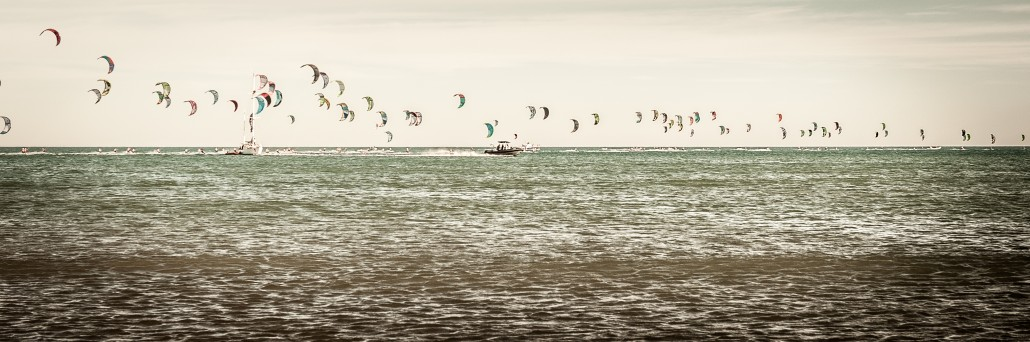 109 compétiteurs sur l'eau  en 2013 - Crédit photo : Défi Kite / Beach Concepts / Jean Marc Cornu.